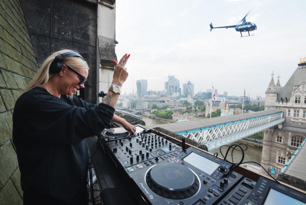 Sam Divine on top of Tower Bridge